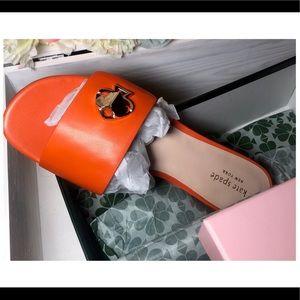 Kate Spade Orange Heeled Sandals